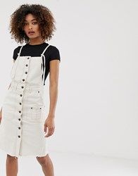 Pepe Jeans Salty White Denim Button Down Dress