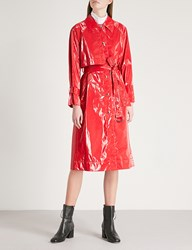Moandco. Pvc Trench Coat High Risk Red