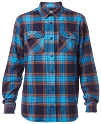 Fox Men's Hollenberg Flannel Plaid Shirt Indigo