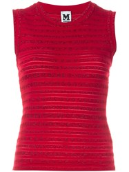 M Missoni Patterned Knit Tank Top Red