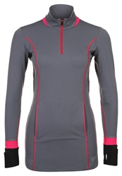 Gore Running Wear Sunlight Long Sleeved Top Graphite Grey Jazzy Pink Black Dark Gray