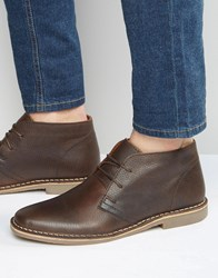 Red Tape Desert Boots In Brown Leather Brown