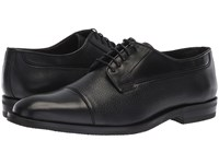 Canali Cap Toe Oxford Black Lace Up Cap Toe Shoes