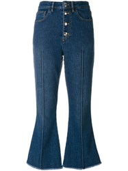Sonia Rykiel Cropped Denim Trousers Blue