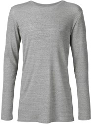 Judson Harmon Ribbed Longsleeved T Shirt Grey