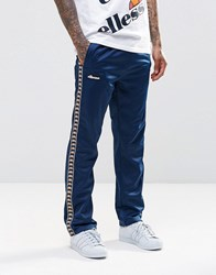 Ellesse Tricot Joggers With Taping Navy