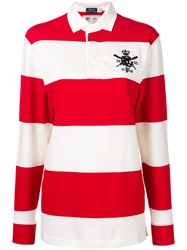 Polo Ralph Lauren Striped Long Sleeve Top Red