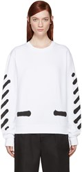 Off White White Spray Paint Pullover