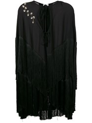 Magda Butrym Fringed Cape Black