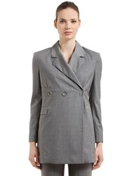 Alyx Double Breasted Tailored Wool Blazer Grey