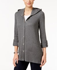 Styleandco. Style Co. Hooded Thermal Jacket Only At Macy's Steel Heather Grey