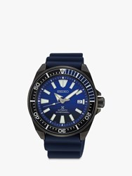Seiko Srpd09k1 'S Save The Ocean Date Automatic Silicone Strap Watch Navy