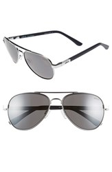Men's Revo 'Raconteur' 58Mm Polarized Aviator Sunglasses Chrome Graphite