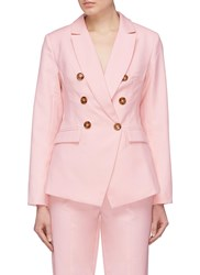 C Meo Collective 'Definitive' Double Breasted Suiting Blazer Pink