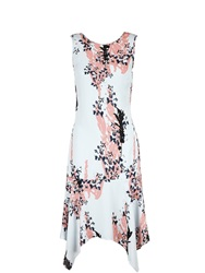 Reiss Gable Frill Detail Dress Coral Coral