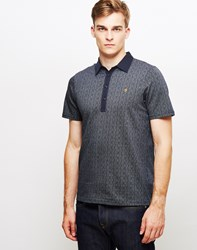 Farah Critchley Short Sleeve Polo Neck Navy