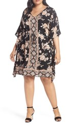 Angie Plus Size Floral Print Kaftan Dress