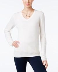 Charter Club Cashmere V Neck Sweater Only At Macy's Ivory