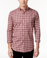 Club Room Men's Tartan Plaid Shirt Only At Macy's Red River