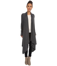 Culture Phit Carmen Wrap Shawl Charcoal Women's Sweater Gray