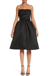 Reem Acra Women's Draped Bodice Strapless Scuba Dress