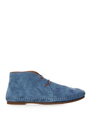 Tomas Maier Palm Tree Embellished Suede Desert Boots