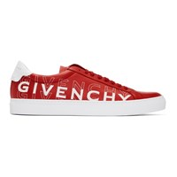Givenchy Red And White Urban Knot Shift Logo Sneakers