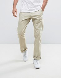 French Connection Chino Trouser In Regular Fit Stone
