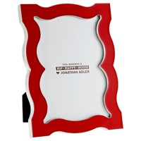 Jonathan Adler Enamel Queen Anne Frame Red
