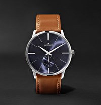 Junghans Meister Handaufzug 38Mm Stainless Steel And Leather Watch Brown