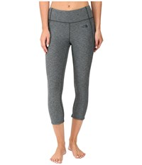 The North Face Motivation Crop Leggings Darkest Spruce Heather Women's Casual Pants Gray