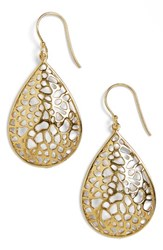 Argentovivo Women's Argento Vivo Teardrop Dome Lace Earrings