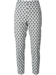 Antonio Marras Baroque Print Cropped Trousers Blue