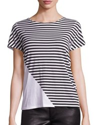 Rag And Bone Cotton Colorblock Striped Tee