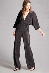 Forever 21 Pleated Palazzo Jumpsuit Black