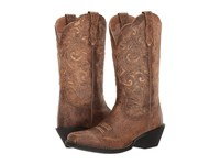 Ariat Round Up Square Toe Vintage Bomber Cowboy Boots Brown