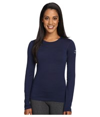 Icebreaker Oasis Long Sleeve Crewe Admiral Women's Long Sleeve Pullover Navy