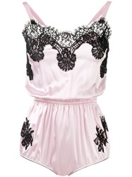 Dolce And Gabbana Lace Detail Camisole Women Silk Cotton Polyamide Iv Pink Purple
