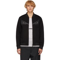 Fendi Black Scuba 'Bag Bugs' Bomber Jacket