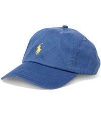 Polo Ralph Lauren Men's Classic Chino Sports Cap Derby Blue