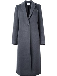 Alexander Wang T By Single Breasted Coat Grey