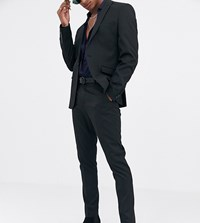Heart And Dagger Skinny Suit Trousers In Black