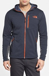 The North Face Men's 'Canyonlands' Full Zip Hoodie Blue Heather Papaya Orange