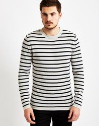 Selected Mel Long Sleeve Striped T Shirt Grey