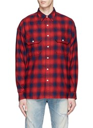 Studio Seven Relaxed Fit Check Plaid Shirt Multi Colour