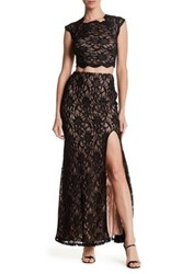 City Triangles Lace Cutout Dress Black
