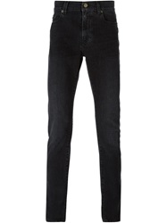 Saint Laurent Slim Washed Jeans Black