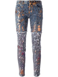 Faith Connexion Paint Splatter Panelled Jeans Multicolour