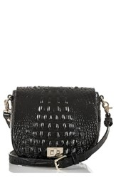 Brahmin Mini Sonny Leather Crossbody Bag Black