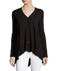W By Wilt Slanted Button Cardigan Black